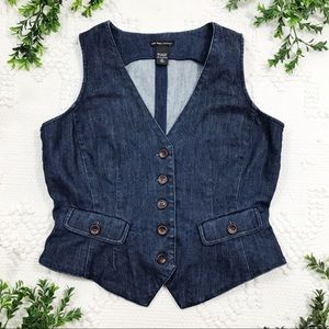 New York & Company Dark Denim Vest